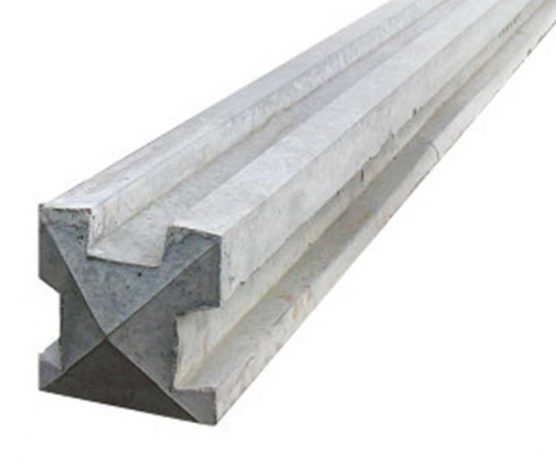 3 Way Slotted Concrete Fence Post Chelmsford Plastic